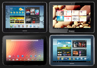 Nexus 10 vs Galaxy Tab 10.1 vs Galaxy Note 10.1