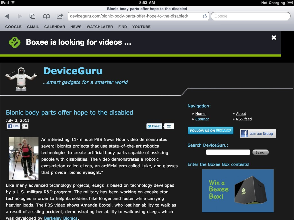 Boxee iPad app works standalone or with Boxee Box - DeviceGuru