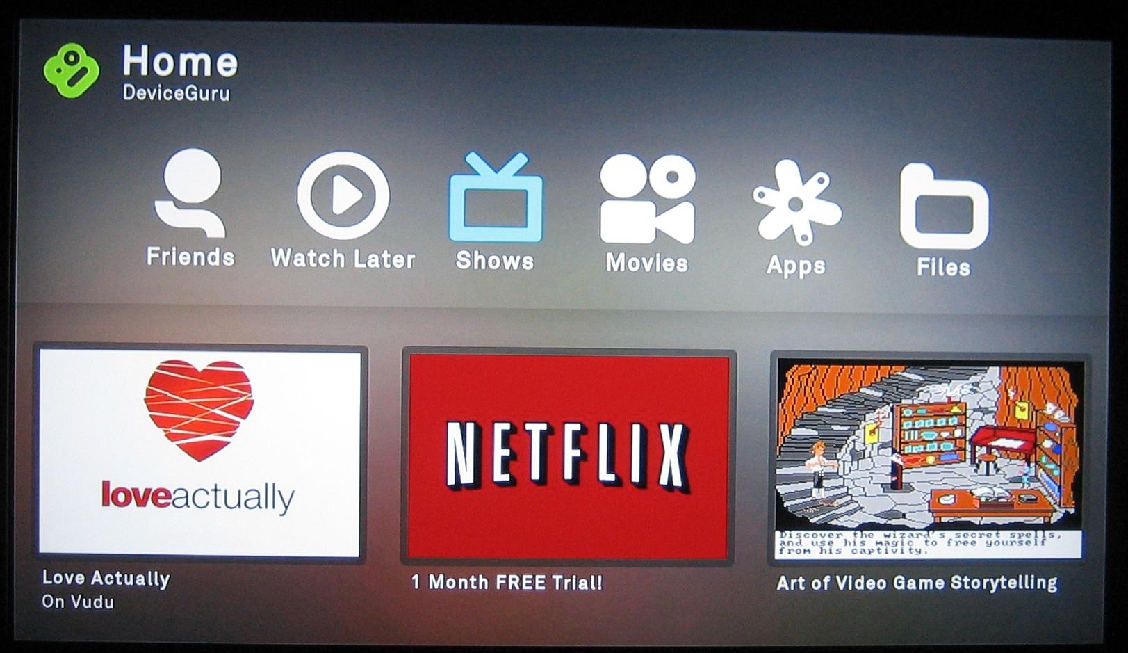 Netflix finally on Boxee Box, but buggy - DeviceGuru
