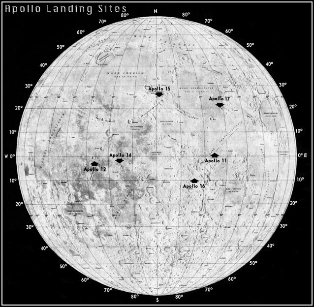 NASA's lunar landing sites