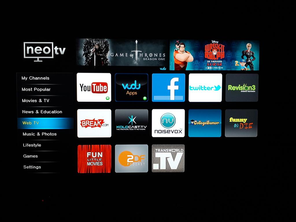 Netgear NeoTV NTV300 screenshot tour - DeviceGuru